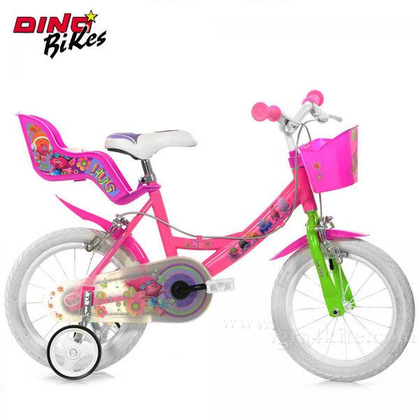 """Dino Bikes Trolls - Детско колело 14"""" Тролчета 117555"""