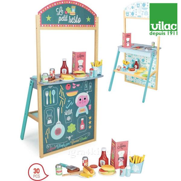 Vilac - Детски дървен ресторант за бързо хранене 8101