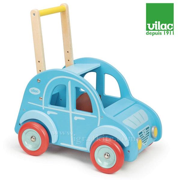 Vilac - Дървена ретро кола за прохождане и яздене 2в1 1009