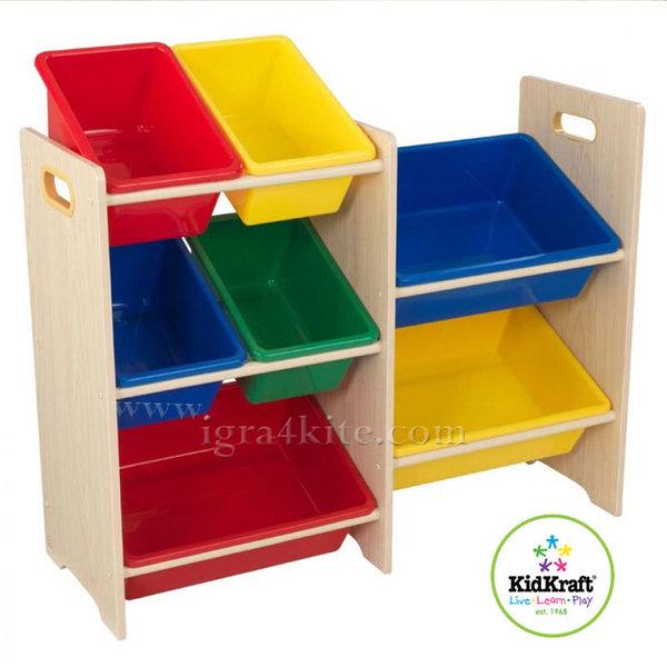 KidKraft - Детска дървена етажерка за играчки 15470