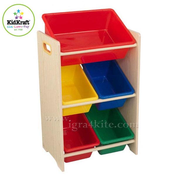 KidKraft - Детска дървена етажерка за играчки 15472