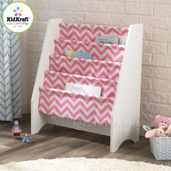 KidKraft - Детска библиотека от дърво и текстил 14233