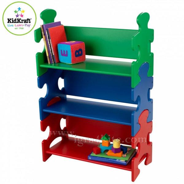 KidKraft - Детска дървена библиотека Puzzle 14400