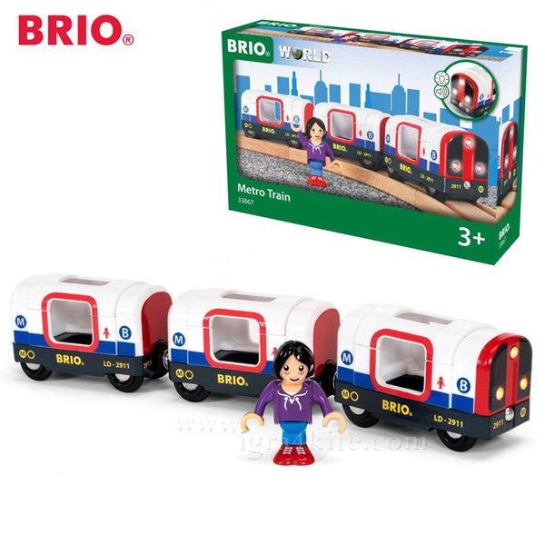 Brio - Пътническо метро влакче със звук и светлина 33867