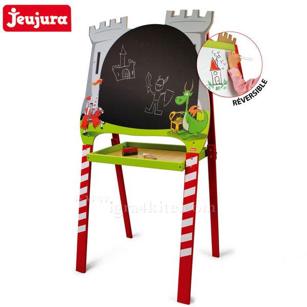 Jeujura - Дървенa двустранна дъска за рисуване Рицар и дракон j8809