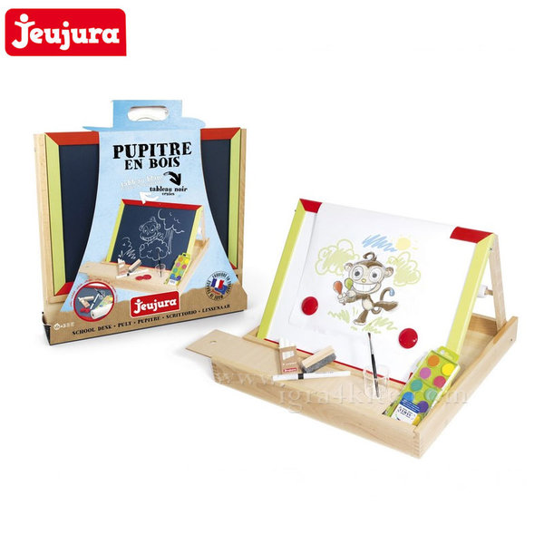 Jeujura - Дървена двустранна дъска за рисуване j8850