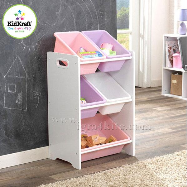 KidKraft - Детска дървена етажерка за играчки 15473