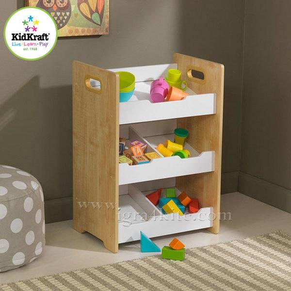 KidKraft - Детска дървена етажерка за играчки 15766