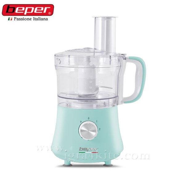 Beper - Кухненски робот 500W тюркоаз 90.470a