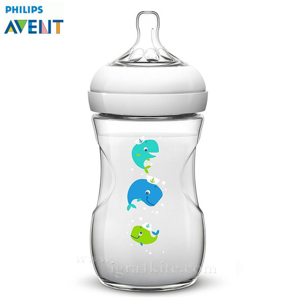 Philips AVENT - Шише за хранене Natural 260ml PP кит 0464