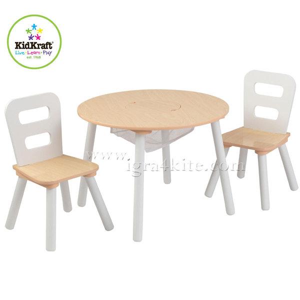 KidKraft - Детска дървена маса с два стола 27027