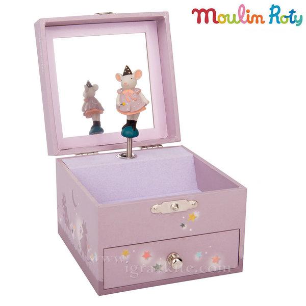 Moulin Roty - Дървена музикална кутия за бижута Мишле 711351