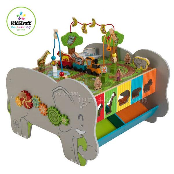 KidKraft - Детска дървена маса с активности Слонче 17508
