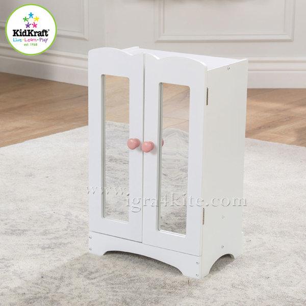 KidKraft - Детски дървен гардероб за кукли Lil 60132