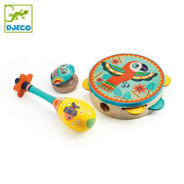 Djeco - Детски дървени музикални инструменти Animambo DJ06016