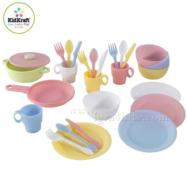 KidKraft - Детски комплект съдове Pastel 63027