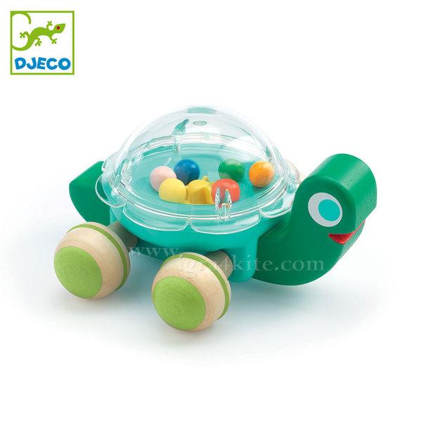 Djeco - Дървена костенурка на колелца DJ06373