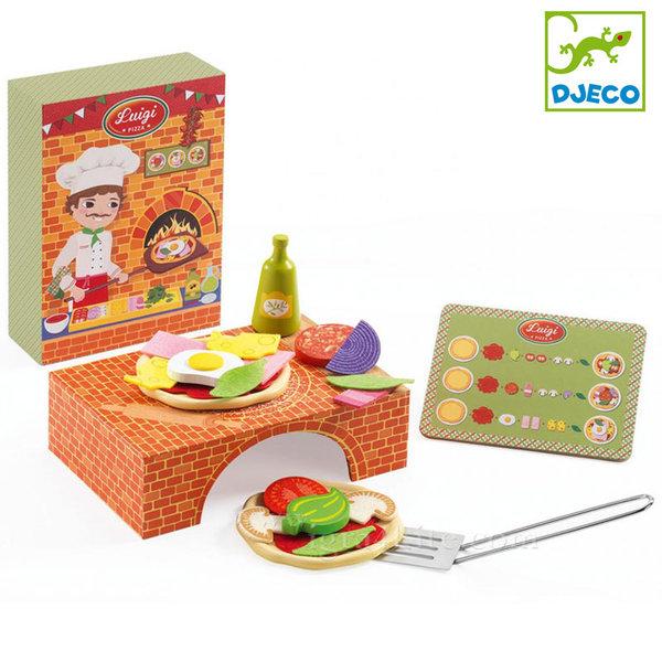 Djeco - Дървена играчка Да направим пица DJ06538