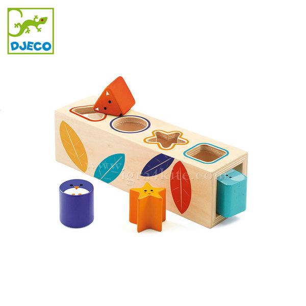 Djeco - Дървена играчка за сортиране на формички DJ06202