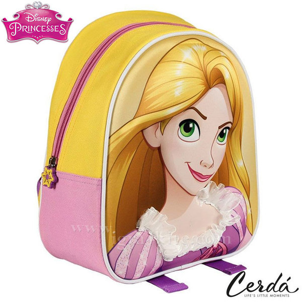 Disney Princess - Раница за детска градина 3D Рапунцел 1674