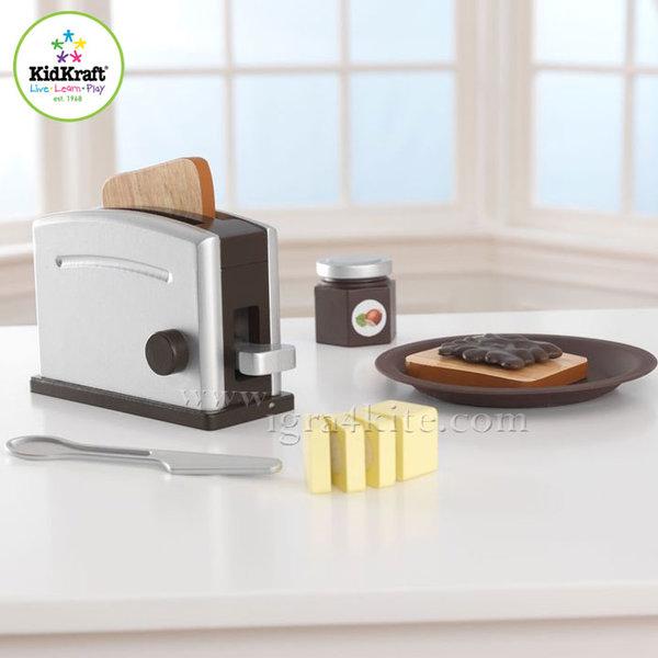 KidKraft - Детски комплект тостер Espresso 63373