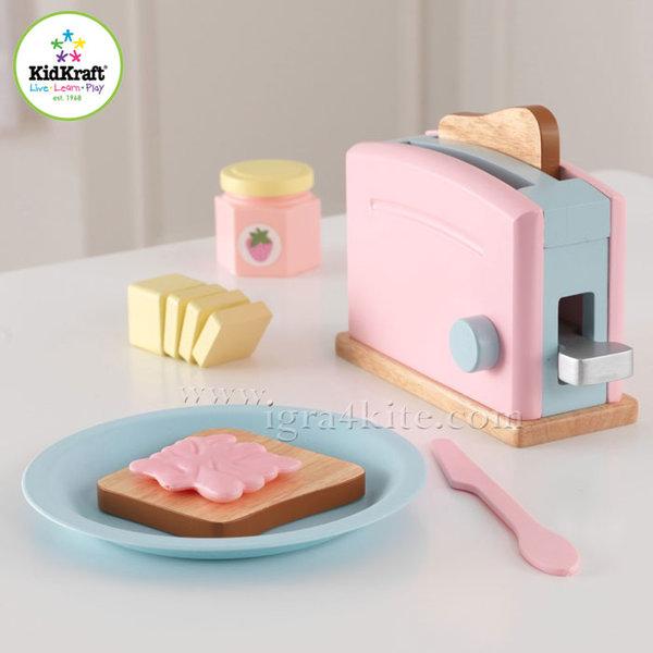 KidKraft - Детски комплект тостер Espresso Pastel 63374