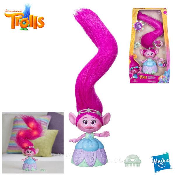 Trolls - Тролче Poppy с музикална светеща коса c1305