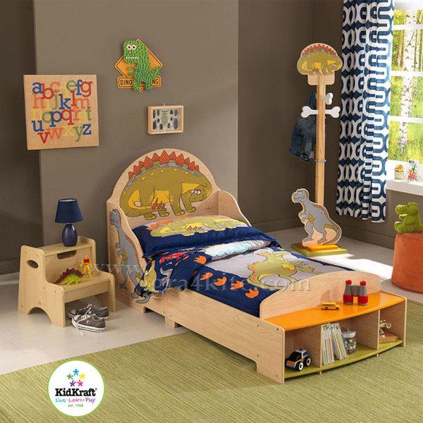 KidKraft - Детско дървено легло Динозавър 86938