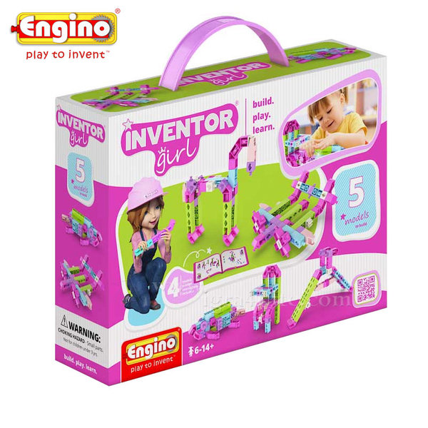 Engino - Конструктор 5 модела за момичета IG05