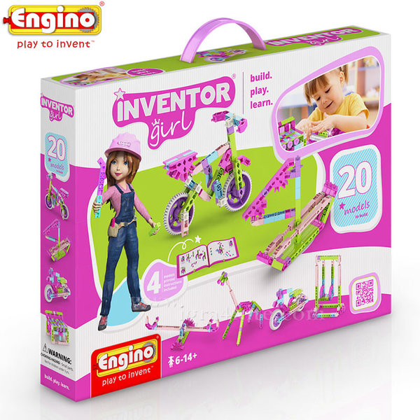 Engino - Конструктор 20 модела за момичета IG20