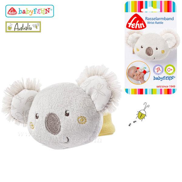 Baby Fehn Australia - Бебешка дрънкалка гривничка Коала 064148