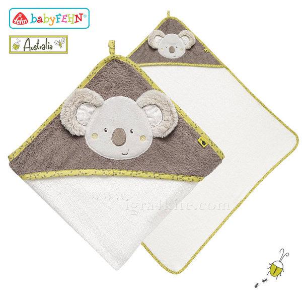 Baby Fehn Australia - Бебешка хавлиена кърпа с качулка Коала 064179