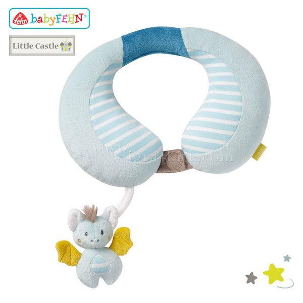Baby Fehn Little Castle - Бебешка възглавничка за врат Прилеп 065282