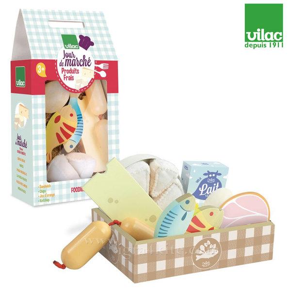Vilac - Дървена играчка Рибни, месни и млечни продукти 8104