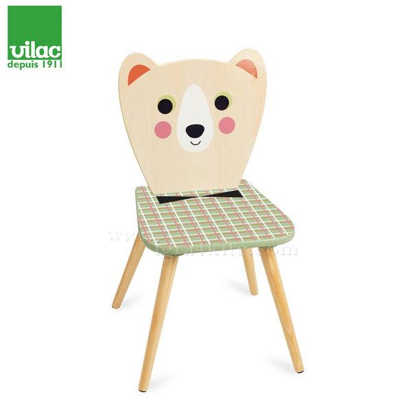 Vilac - Детско дървено столче Мече 7734