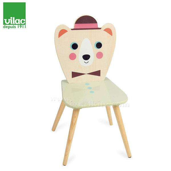 Vilac - Детско дървено столче Мече 7733