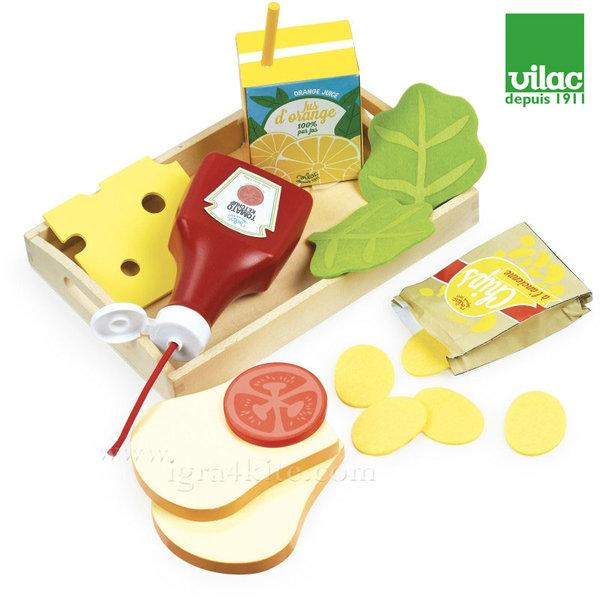 Vilac - Дървена играчка Вечеря в табла 8105