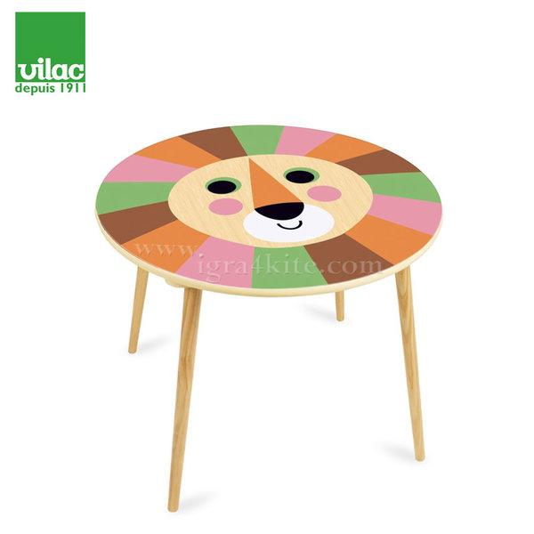 Vilac - Детска дървена маса Лъв 7745