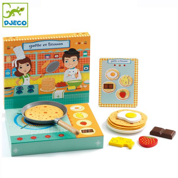 Djeco - Дървена играчка Да направим палачинки DJ06530