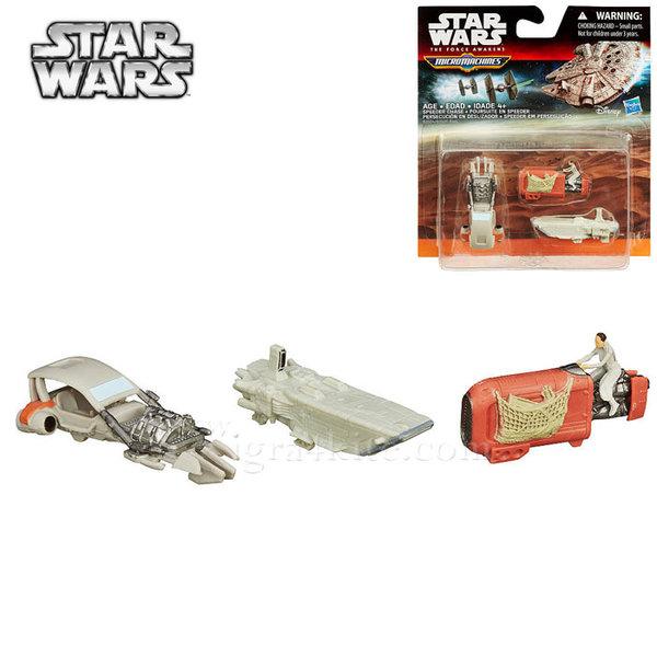 Hasbro Star Wars - Комплект 3 бойни кораба от Междузвездни войни Speeder Chase b3500