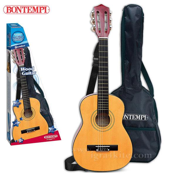 Bontempi - Дървена класическа китара 75см с калъф 191303