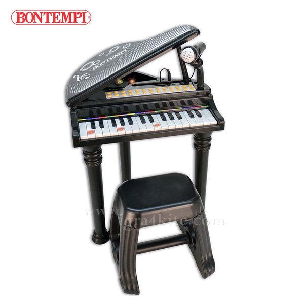 Bontempi - Детски роял с микрофон и столче 191314