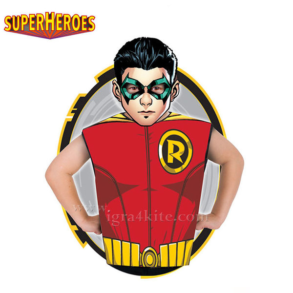 Детски карнавален костюм Superheroes Robin 33687