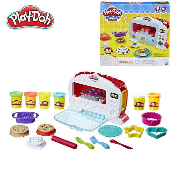 PlayDoh - Детски комплект Забавления в кухнята Магическа фурна със звук и светлина b9740