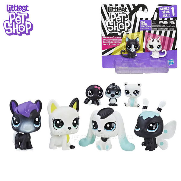Littlest Pet Shop - Комплект малки домашни любимци Black & White c1848
