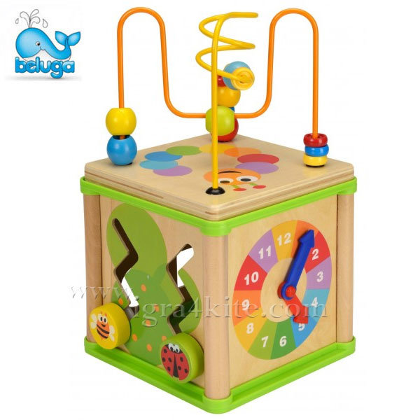 Beluga - Дървена играчка Образователен куб 50113
