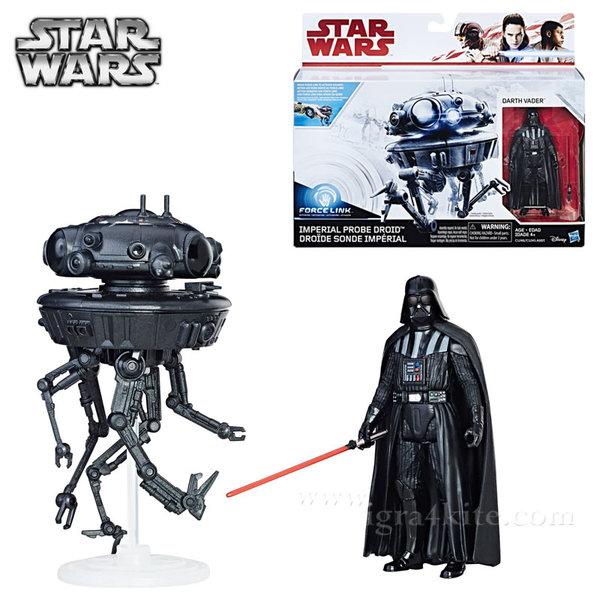 Hasbro Star Wars Force Link - Комплект с eкшън фигура Imperial Probe Droid & Darth Vader c1245