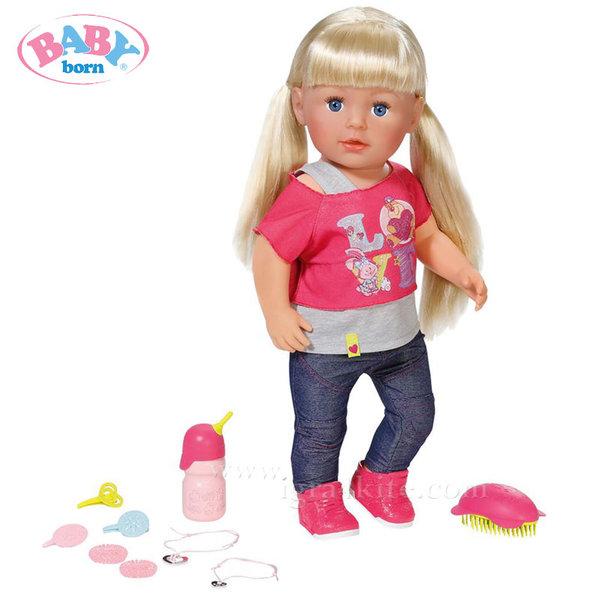 Baby Born - Интерактивна кукла с дълга коса и аксесоари 820704