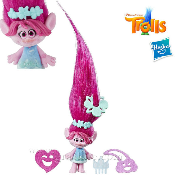 Trolls - Тролче Poppy с дълга коса и аксесоари c1300