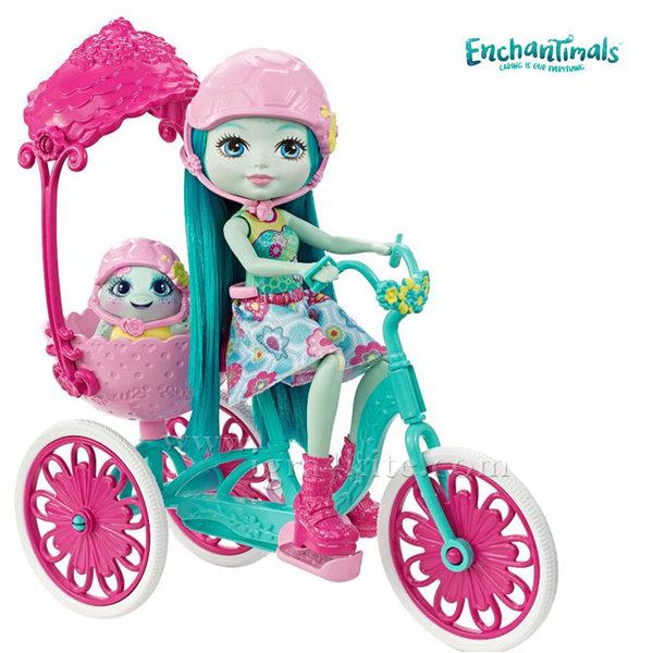 Enchantimals - Пазители на гората Игрален комплект Кукла с колело FJH11